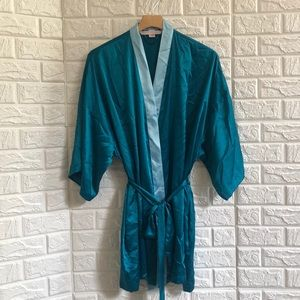 Victoria's Secret two tone teal one size robe